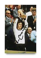Franz Beckenbauer Signed 6x4 Photo Germany Bayern Munich Genuine Autograph + COA