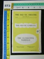 """The OLD VIC THEATRE, London, """"THE CLANDESTINE MARRIAGE"""" by Colman & Garrick,1951"""