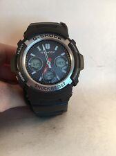 CASIO G-Shock AWGM100B-1A Multi Band Solar Power Black Ana/Digi Sport Watch-r16