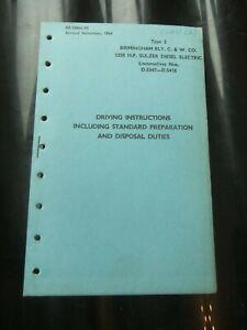 British Railways BR33003/95 - Class 27 Birmingham RCW Fault Finding Manual 1964
