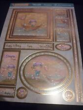 HUNKYDORY ADORABLE SCORABLE ADVENTURE AWAITS GILDED TOPPER SHEET 2 A4 CARD