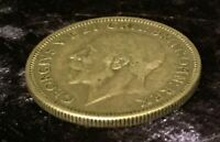 1935 George V One Shilling Coin Silver,5.60g
