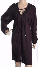 George Black Long Sleeve Lace Up Tunic Size 20 UK 48 EUR - NEW