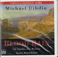 Michael Dibdin Blood Rain 8CD Audio Book Unabridged Aurelio Zen Mystery FASTPOST