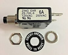 Zing Ear ZE-700-6A Thermal Circuit Breaker; Also have (1) NTE brand 6A available