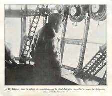 1930 Dr. Eckener, In The Graf-zeppelin Command Cabin, Watches The Airship Route.