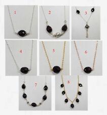 Natural Garnet Briolette Necklace 925 Sterling Silver Handmade Jewelry MN1829