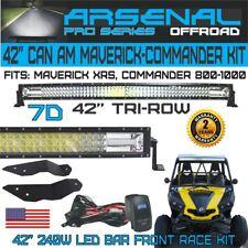 "CAN AM MAVERICK COMMANDER 42"" TRI ROW UPPER LIGHT BAR PRO RACE KIT 800R 1000"
