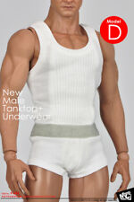 "Magic Cube Toys 1/6th White Tanktop +Underwear For 12"" Male Body Doll Toy"