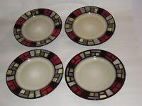 "4 Mikasa Santa Fe 8 1/4"" Salad Dessert Plates"