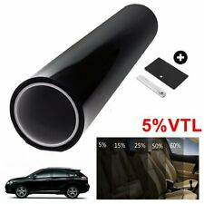 "20"" x 10ft Uncut Window Tint Roll 5% VLT Home Commercial Office Auto Film Visor"