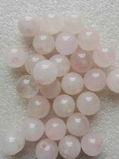20 Rose Quartz Beads Gemstone Semi Precious Natural 10mm Craft Jewellery Making