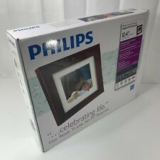 "Philips Digital PhotoFrame 10.4"" LCD Panel Mocha Brown Wood Frame SPF3400/G7"