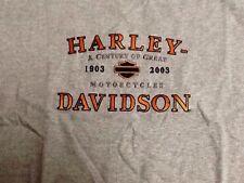Harley Davidson 100th Anniversary gray Shirt Nwot Men's Large
