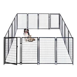 ALEKO Dog Kennel Heavy Duty Pet Playpen 10'X10'X4' Exercise Fence Hens Coop