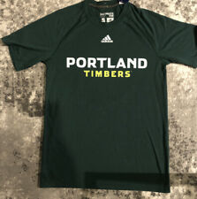 Adidas Portland Timbers Shirt Men Small Green Yellow Soccer Futbol MLS