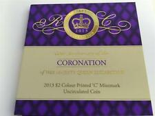 "2013 $2 PURPLE ""C"" MINTMARK COIN IN CARD 60th Anniversary QUEEN CORONATION"