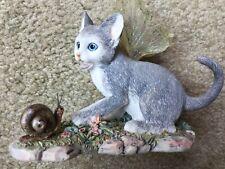 Pre-Owned Faerie Glen Shadow Fairy Cat Figurine