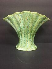 Vintage Green Fan Vase A & A Ceramics