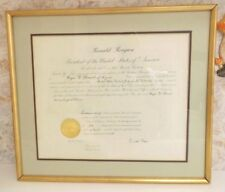 Ronald Reagan Signed Presidential Appointment of Roger Strand US District Judge