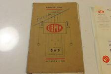 ancien catalogue EBMA + lettre + photos  toilettes lavabo meuble autun 1921