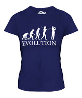 GOLFER EVOLUTION OF MAN LADIES T-SHIRT TEE TOP GIFT GOLF CLOTHING