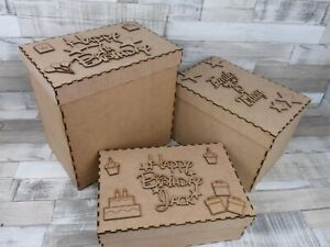 PERSONALISED BIRTHDAY BOX - WOODEN GIFT - PRESENT - SON, DAUGHTER, MUM, DAD.