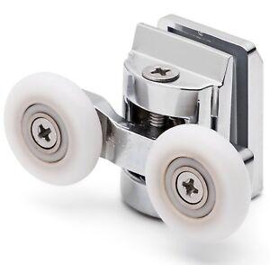 2 x Double Top Shower Door Rollers/Runners 20mm wheel (6mm glass) L067