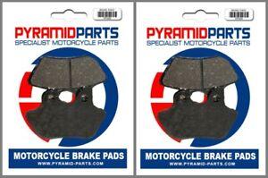 Front Brake Pads (2 Pairs) for Harley Davidson FLHRi/FLHR Road King 00-07