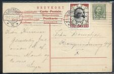 DENMARK 1911, 5ore + Christmas Seal tied Kjobenhavn on postcard, VF