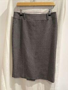 NEXT Black & White Cropped Blazer & Skirt Suit Size 10