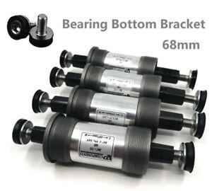 Square Taper Bottom Bracket Bicycle Bottom Bracket Set 68mm Mountain Bike Axis