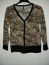 Women's LOVE CULTURE Animal Print Multi Color V-Neck Button Down Cardigan Size ?