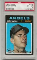 SET BREAK -1971 TOPPS #718 BILLY WYNNE,  PSA 6 EX-MT, CALIF. ANGELS, HIGH NUMBER