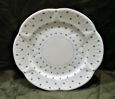 """Shelley 8 1/4"""" Luncheon Plate Pattern #13748/T Turquoise Dot Dainty Style NOS"""