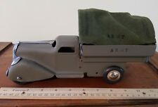 Vintage Marx Wyandotte Pressed Steel Army Truck long Nose Toy Truck Usa toy lot
