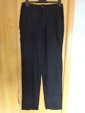 "M & S Regular Fit Linen Blend Trousers Size 30 35"" BNWT"