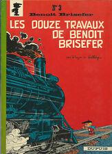 RARE EO 1968 PEYO + WALTHÉRY + DELPORTE : LES 12 TRAVAUX DE  BENOIT BRISEFER