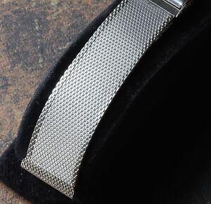 Satin steel mesh 17mm 17.3mm or 18mm American vintage watch bracelet 1950s/60s