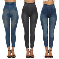 2019 Femme Skinny Jeans Look Yoga Leggings Taille Hauts Sport Fitness Pantalons