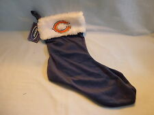 CHICAGO BEARS  embroidered Holiday CHRISTMAS STOCKING    NWT  bl