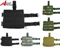 Airsoft Molle Tactical Drop Leg Bag Panel Utility Magazine Dump Pouch Paintball