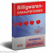 BILLIGWAREN-EINKAUFSFÜHRER Buch Großhandel Adressen B2B IMPORT E-LIZENZ NEU WOW