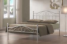 4FT6 DOUBLE METAL BED WHITE DEVON MODEL BEDROOM FURNITURE