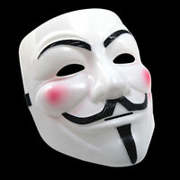 Unisex V for Vendetta Mask Anonymous Guy Fawkes Face Masks Halloween Fancy Dress