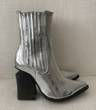 Jeffrey Campbell Silver Cowboy Boots NEW Size 35, 36, 37 & 38 available