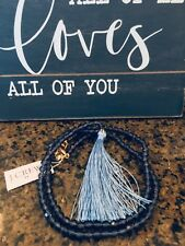 Thread Tassel! Sold Out! Deep Blue J Crew Factory Beaded Pendant Necklace With