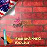 *Red Brick Pattern Stone Textured Vinyl Background Wall Sticker Wallpaper KB14