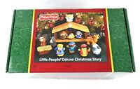NEW Fisher Price Little People Deluxe Christmas Story Set Light & Sound Nativity