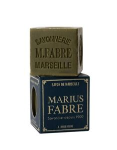 Marius Fabre French Savon De Marseille Olive Oil Cube Soap from Provence 100g